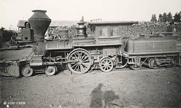 [Central Pacific Railroad steam locomotive No. 4 ]