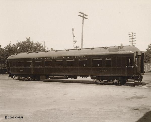 [Southern Pacific Railroad coach No. 1806]