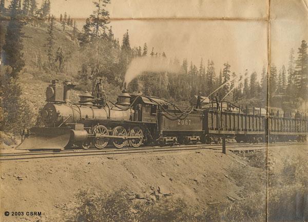 [Southern Pacific Railroad fire train]