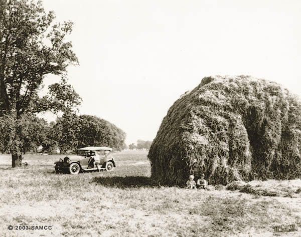 Stack of hay on Holland Tract
