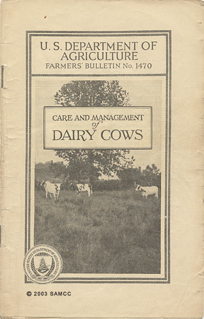 U.S. Department of Agriculture Farmers Bulletin No. 1470