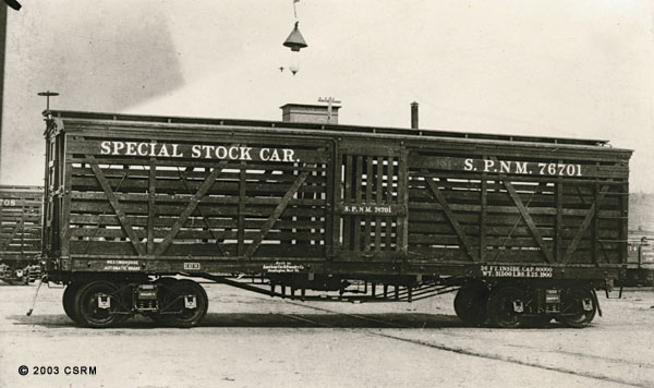 [Southern Pacific Railroad stock car 76701]