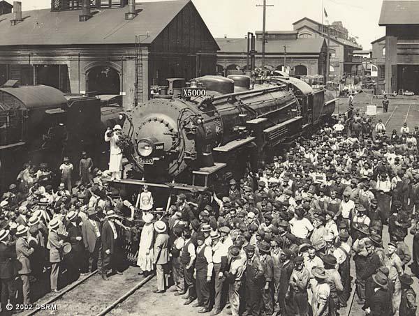 [Southern Pacific Railroad Sacramento Shops complex: celebration to mark arrival of SP steam locomotive No. 5000]