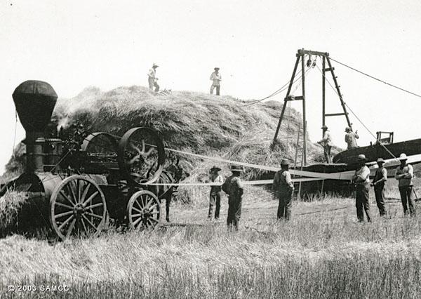 Baling hay on McFarland Ranch, Galt