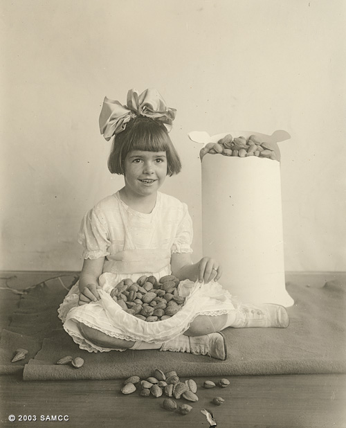 Girl with almonds