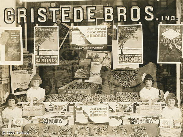 Gristede Bros. Inc. window display for Blue Diamond Almonds