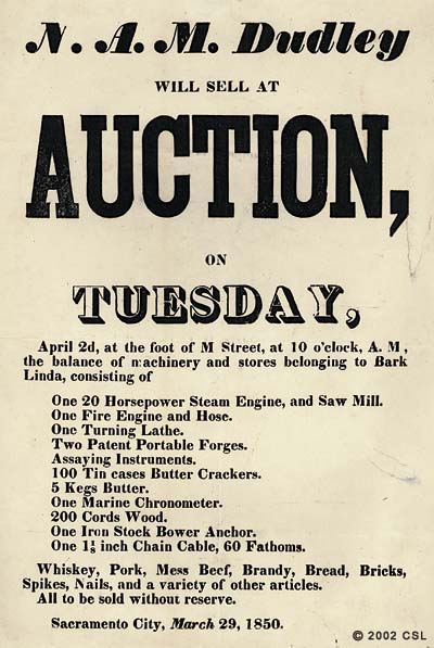N.A.M. Dudley will sell at auction on Tuesday...