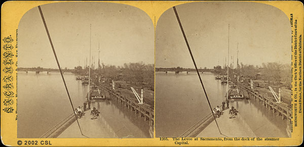 Levee at Sacramento, from the deck of the steamer