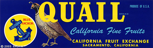 Quail Brand, California Fine Fruits