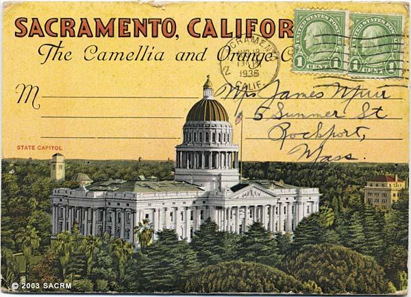 Sacramento, Californa : the Camellia and Orange City