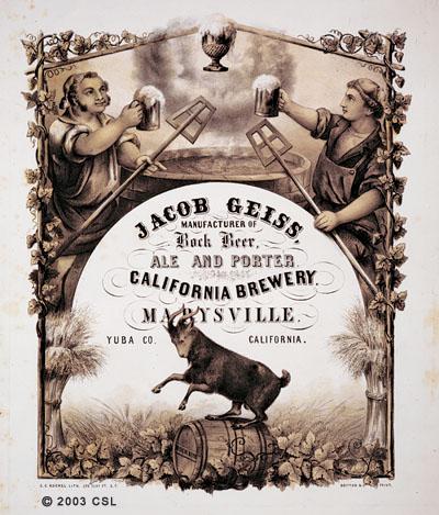 [Jacob Geiss California Brewery, Marysville]