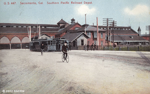 [Southern Pacific Depot - Bicycles - Electric trains]