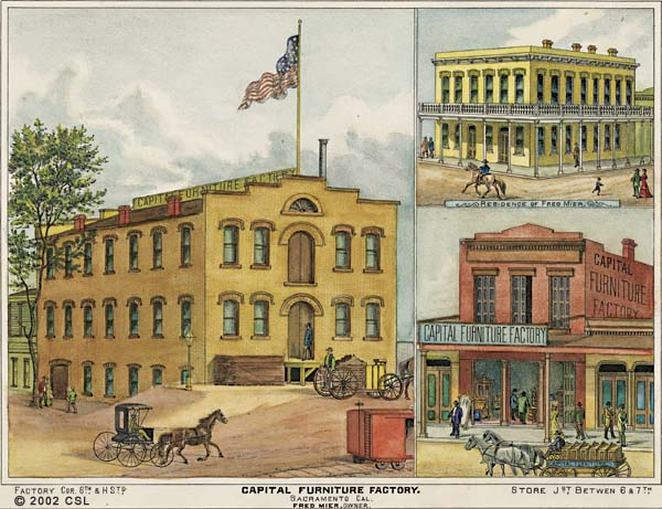 Capital Furniture Factory. Sacramento, Cal. Fred Mier, Owner.