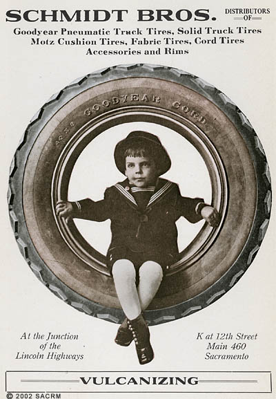 Automobile, truck tires - advertisement