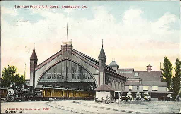 Southern Pacific R. R. Depot, Sacramento, Cal.