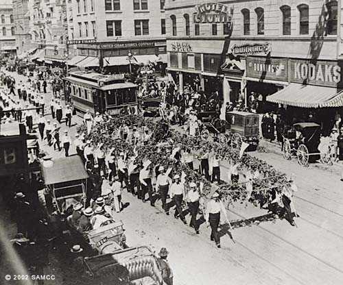 Photographic print of a parade down K Street