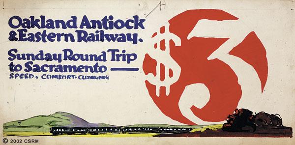 [Preliminary design for Oakland, Antioch & Eastern Railway advertisement]