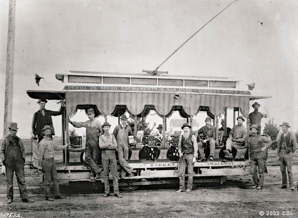 [Central Street Railway car, about 1890]
