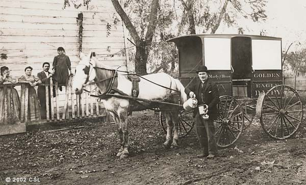 [Golden Eagle Dairy wagon]