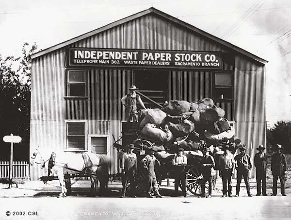 [City of Sacramento Waste Paper Wagon]