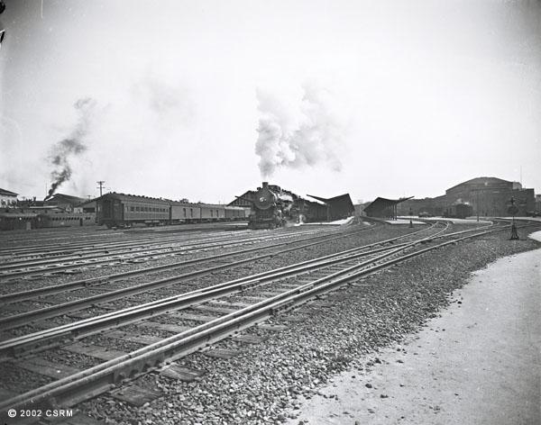 [Southern Pacific Railroad passenger station, Sacramento: exterior view]