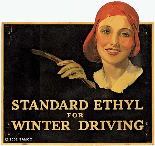 Standard ethyl for winter driving : display card