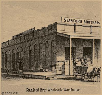 Stanford Bros. Wholesale Warehouse [Detail of birds-eye view of Sacramento]