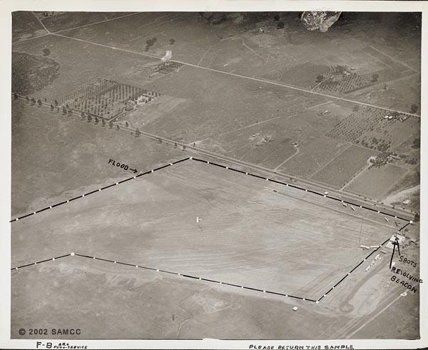 Aerial photograph of Sacramento Municipal Airport site